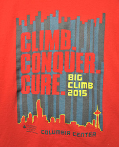 Tee Shirt from Big Climb for leukemia